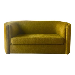 A Curved Arm Upholstered Sofa by Talisman Bespoke For Sale