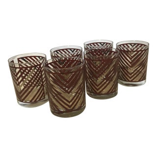 Vintage Mid-Century Georges Briard Cocktail Glasses - Set of 6 For Sale