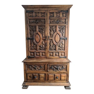 Spanish Mediterranean Highboy Dresser