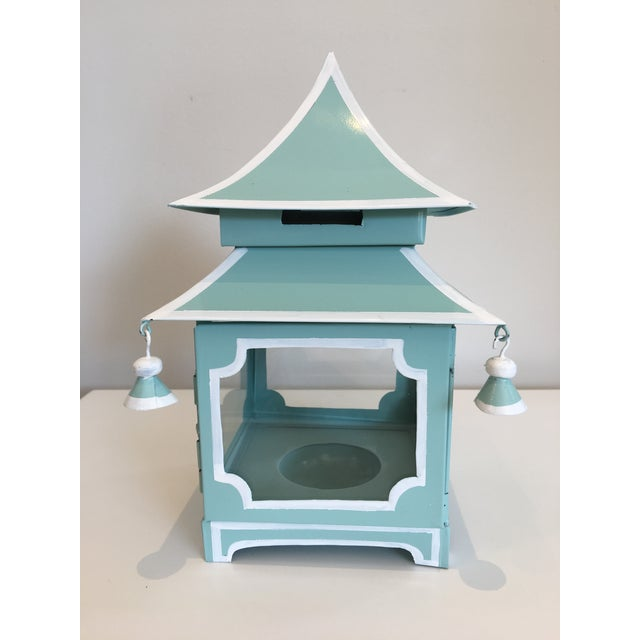 Blue Pagoda Candle Lanterns - A Pair - Image 3 of 4