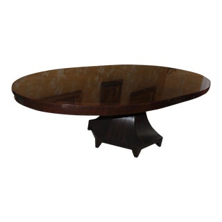 1990s Mid-Century Modern Barbara Barry Henredon Celestial Oval Dining Table For Sale