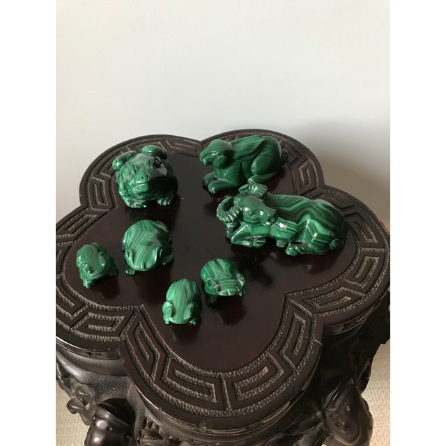 Wood Vintage Mid Century Carved Malachite Rabbit For Sale - Image 7 of 8