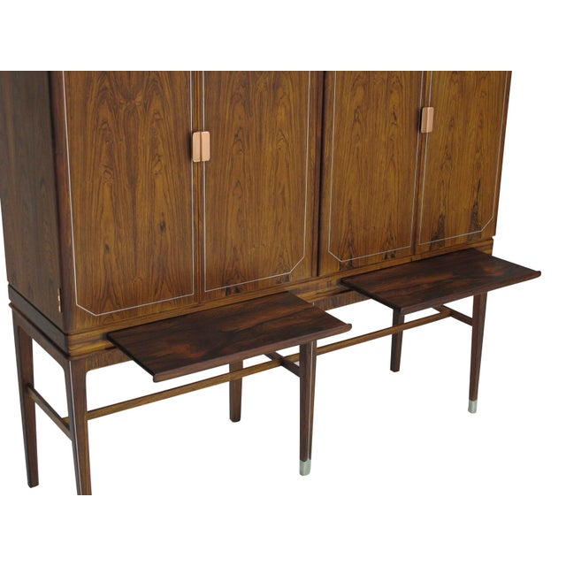 Georg Kofoed Rosewood Cabinet with Eight-Karat White Gold Inlay For Sale - Image 9 of 10