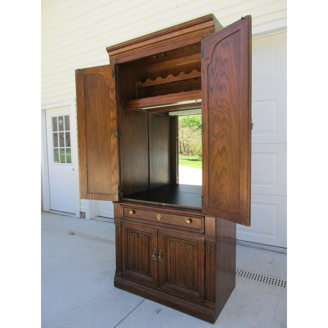 Drexel Lighted Bar Cabinet With Wine Rack - Image 3 of 12