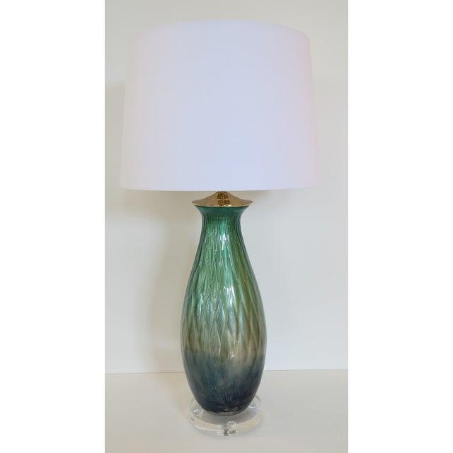 Tri-Color Mercury Glass Lamp - Image 2 of 6
