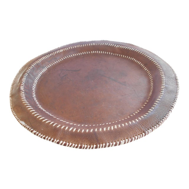 Hand Stitched Leather Tray - Image 1 of 6