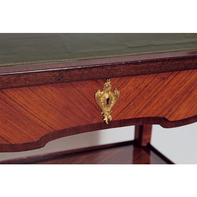 Louis XV Style Small Writing Desk / Table by Alfred Emmanuel Louis Beurdley - Image 10 of 11