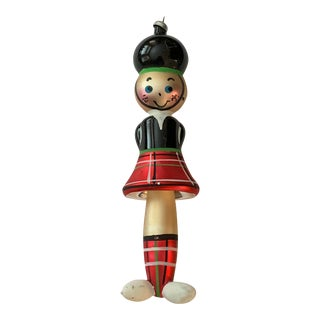 Vintage German Blown Glass Scottish Man Christmas Ornament For Sale