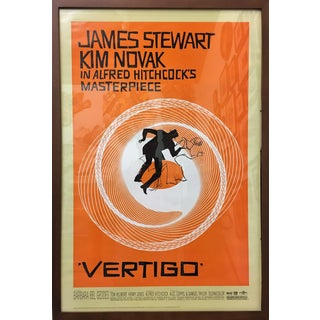 "1950s Americana Framed ""Vertigo"" Movie Poster For Sale"