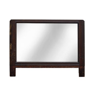 Antique Large Wooden Architectural Mirror
