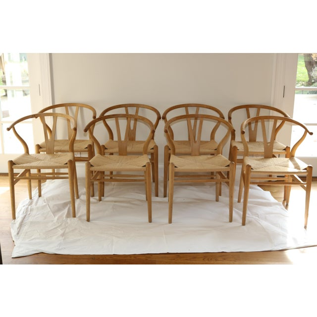 Hans Wegner for Carl Hansen & Son Ch24 Wishbone Chairs - Set of 8 For Sale - Image 13 of 13