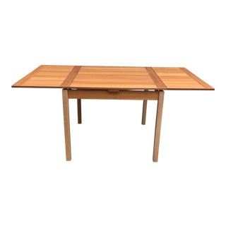 Ansager Mobler Danish Modern Teak Square Expandable Dining Table For Sale