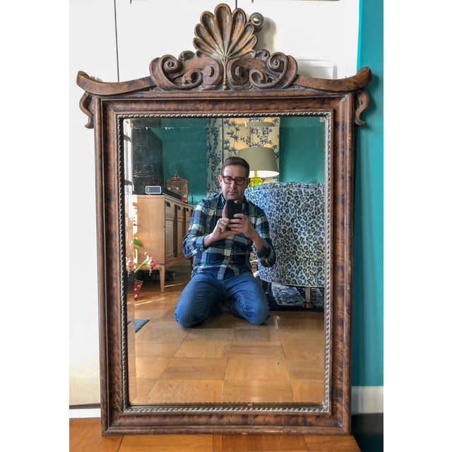 Pagoda Shell Crest Mirror For Sale In Richmond - Image 6 of 6