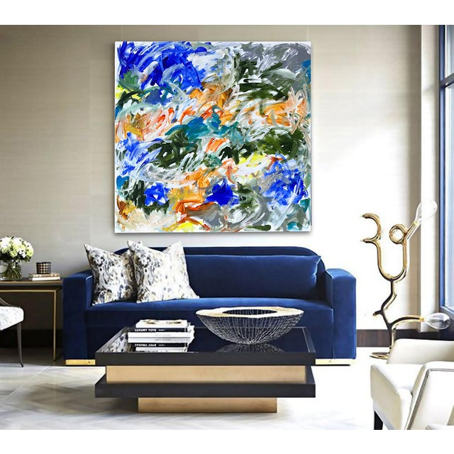 'Tidings' Original Abstract Painting by Linnea Heide For Sale - Image 6 of 9