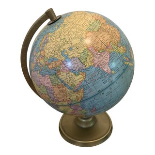 Vintage George F. Cram Company's Imperial Terrestrial World Globe For Sale