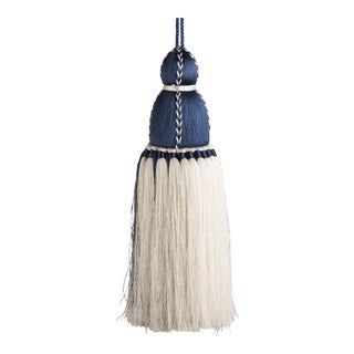 Navy & White Tassel, Large For Sale