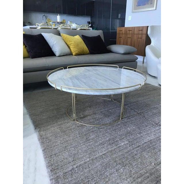 The Bijou Coffee Table in Marble and Matte Gold by Roche Bobois, 2018 For Sale In Miami - Image 6 of 13