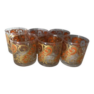 Vintage Mid-Century George's Briard Double Old Fashion Glasses - Set of 6 For Sale