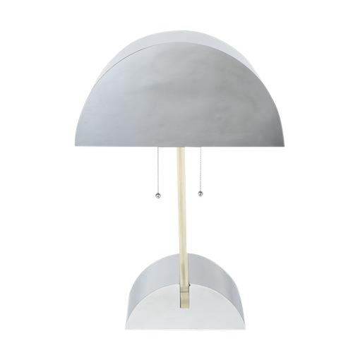 GEORGE KOVACS POLISHED CHROME AND LUCITE TABLE LAMP, CIRCA 1970S For Sale