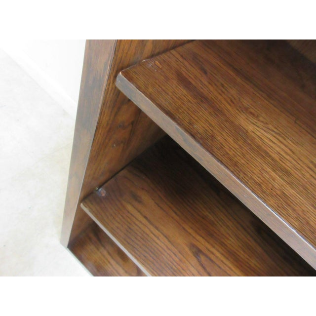 Henredon Oak Campaign Scene One Book Case Dresser For Sale In Philadelphia - Image 6 of 8