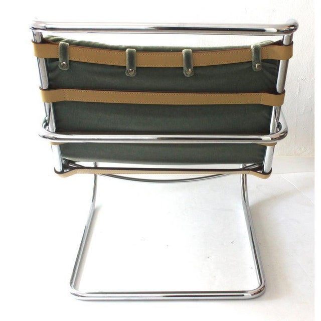 Vintage Mies Van Der Rohe Style Lounge Chair by Gordon International For Sale - Image 10 of 13
