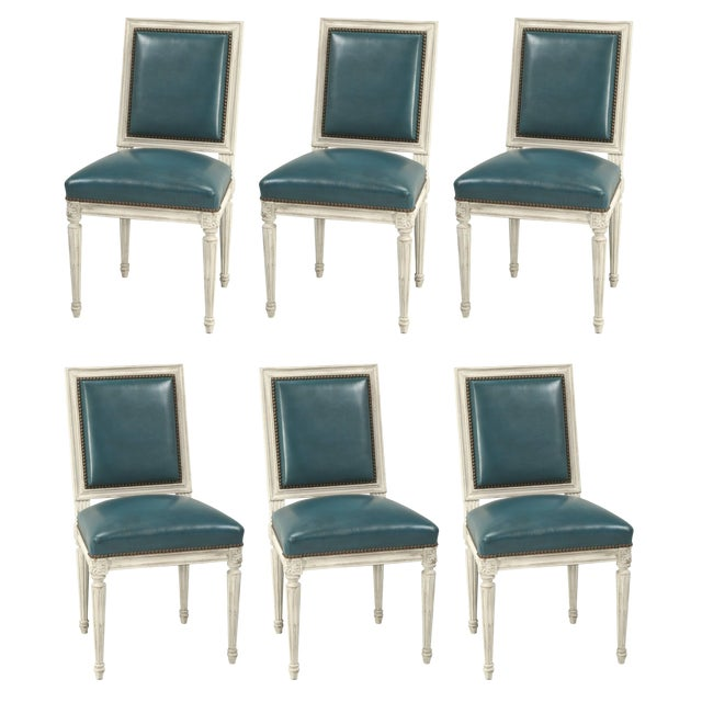 French Louis XVI Style Dining Chairs - Set of 6 For Sale - Image 12 of 12