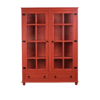 Sienna Red Curio China Cabinet