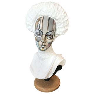 Vintage Bust of Young Women, Signed David Gilmore, Usa, 2019 For Sale