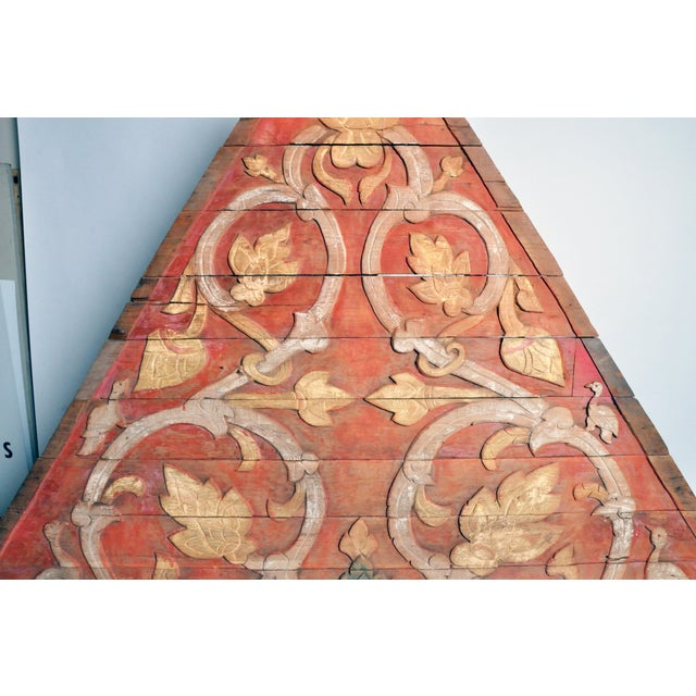 Teak Wood Architectural Gable Fragment For Sale In Chicago - Image 6 of 9
