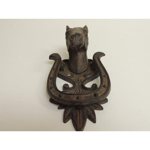 Rustic Iron Horse Door Knocker - Image 3 of 4