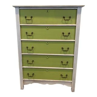 1920s Boho Chic 5-Drawer Dresser For Sale