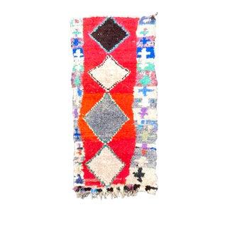 Boucherouite Berber Rug Handmade For Sale