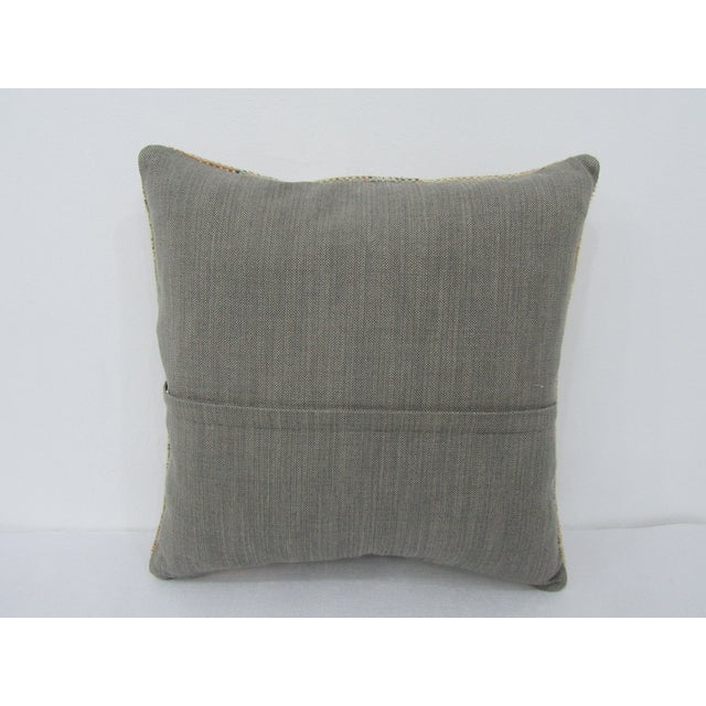 Islamic Turkish Washed Out Vintage Decorative Pillow Cover For Sale - Image 3 of 4