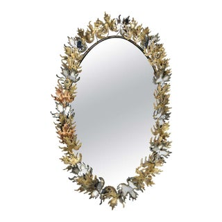 Curtis Jere Brutalist Wall Mirror For Sale