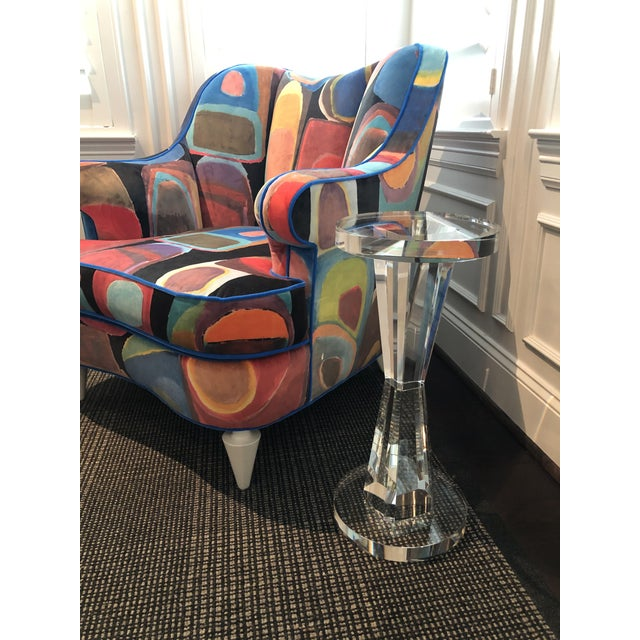 Contemporary Contemporary Solid Crystal Side Table For Sale - Image 3 of 8