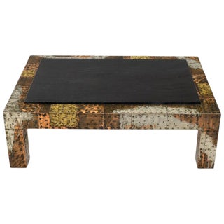 Paul Evans Mid-Century Modern Rectangular Coffee Table with Slate Top For Sale