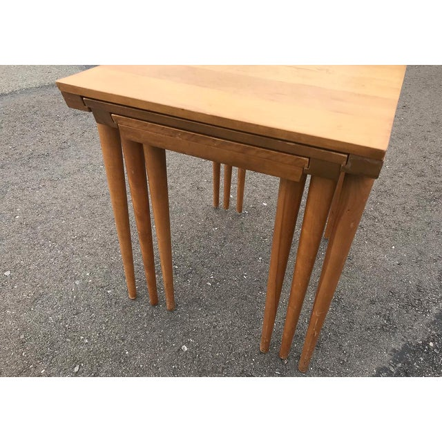 MCM Russell Wright for Conant Ball Nesting Tables - Set of 3 For Sale - Image 12 of 13