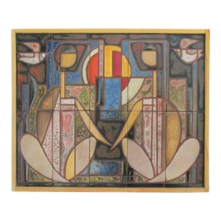 1940s Tile Mosaic, Framed For Sale
