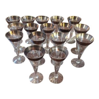Vintage Dorothy Thorp Wine Glasses- Set of 16 For Sale