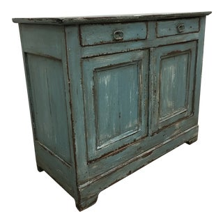 19th C French Two Door Painted Buffet For Sale
