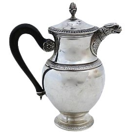Antique French Sterling Teapot Pot