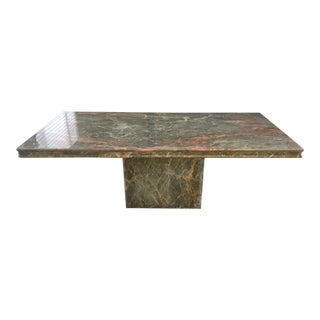1990s Art Deco Marble Pedestal Table For Sale