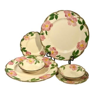 Mid 20th Century Franciscan Earthenware Usa Stamp Dinnerware - Set of 6 For Sale
