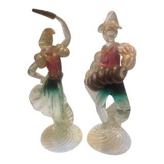 Vintage 1960's Murano Figurines - A Pair For Sale