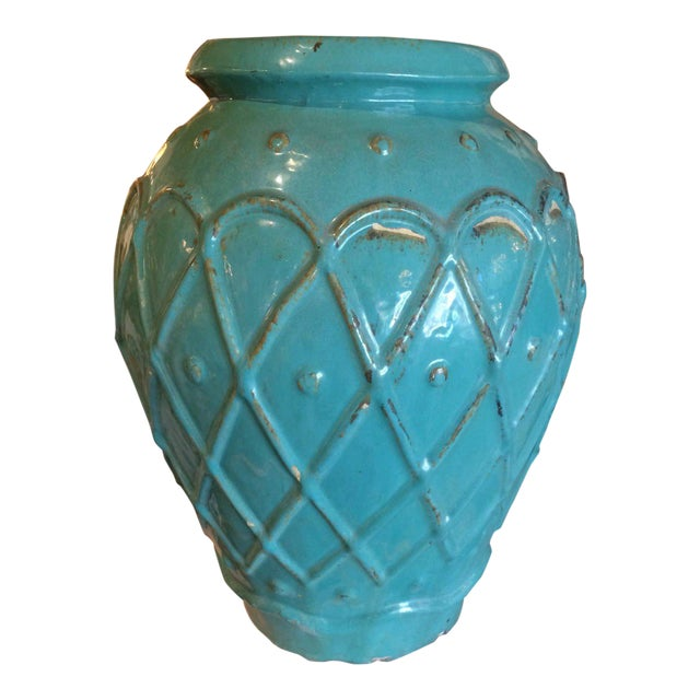 Turquoise Glaze Jar by Galloway For Sale