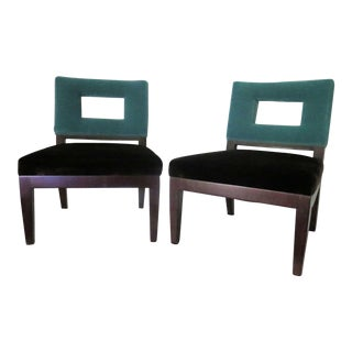 Lily Jack Slipper Chairs - a Pair
