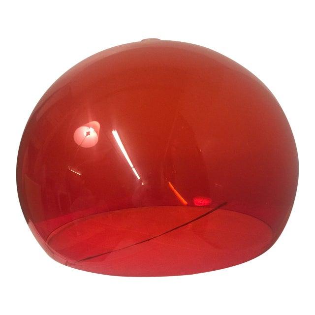 Kartell Fl/Y 9031/K3 Suspension Lamp in Red For Sale