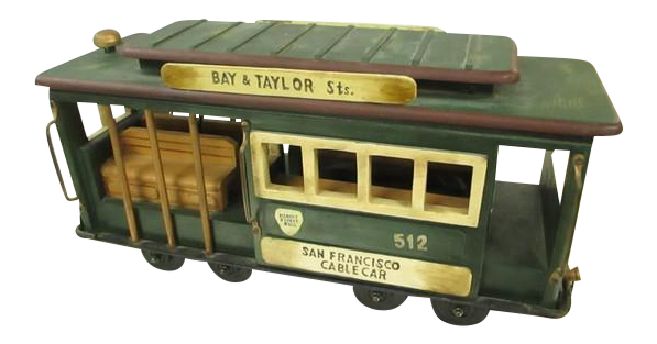 Vintage San Francisco Cable Car Large Display Store Model   Image 1 Of 7