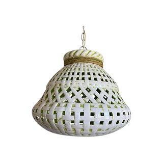 Midcentury Italian Lattice Pendant Light For Sale