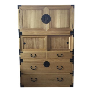 Japanese Style Isho Dansu 3 Sections Clothing Chest, Dresser